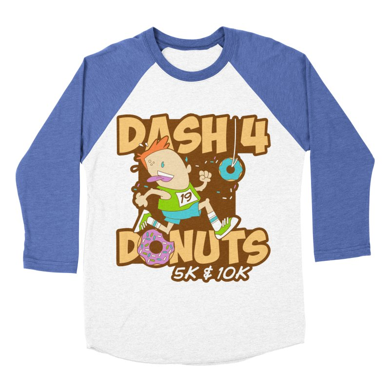 Dash 4 the Donuts 5K & 10K Men's Baseball Triblend Longsleeve T-Shirt by moonjoggers's Artist Shop