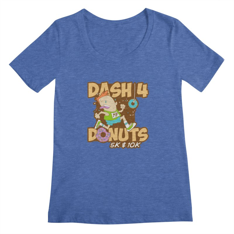 Dash 4 the Donuts 5K & 10K Women's Regular Scoop Neck by moonjoggers's Artist Shop