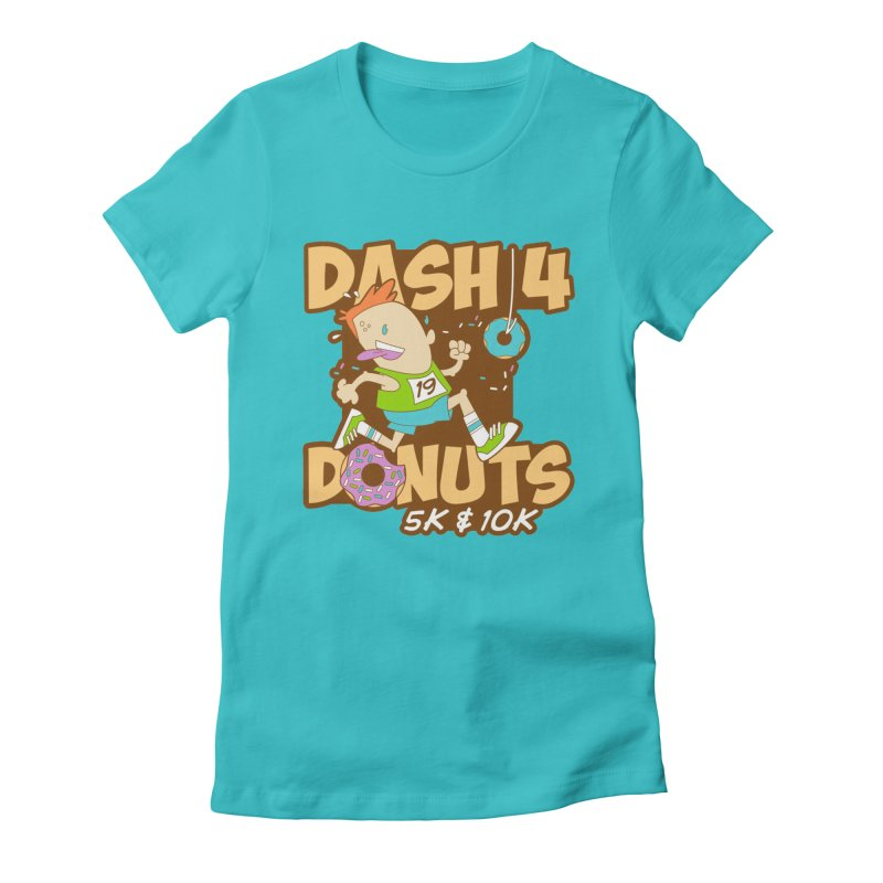 Dash 4 the Donuts 5K & 10K Women's Fitted T-Shirt by moonjoggers's Artist Shop