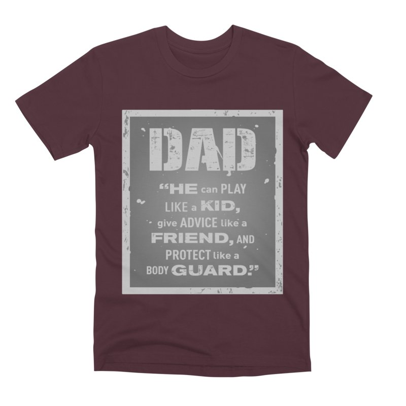Father's Day Men's Premium T-Shirt by moonjoggers's Artist Shop