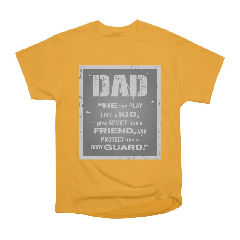 Father's Day Men's Heavyweight T-Shirt by moonjoggers's Artist Shop