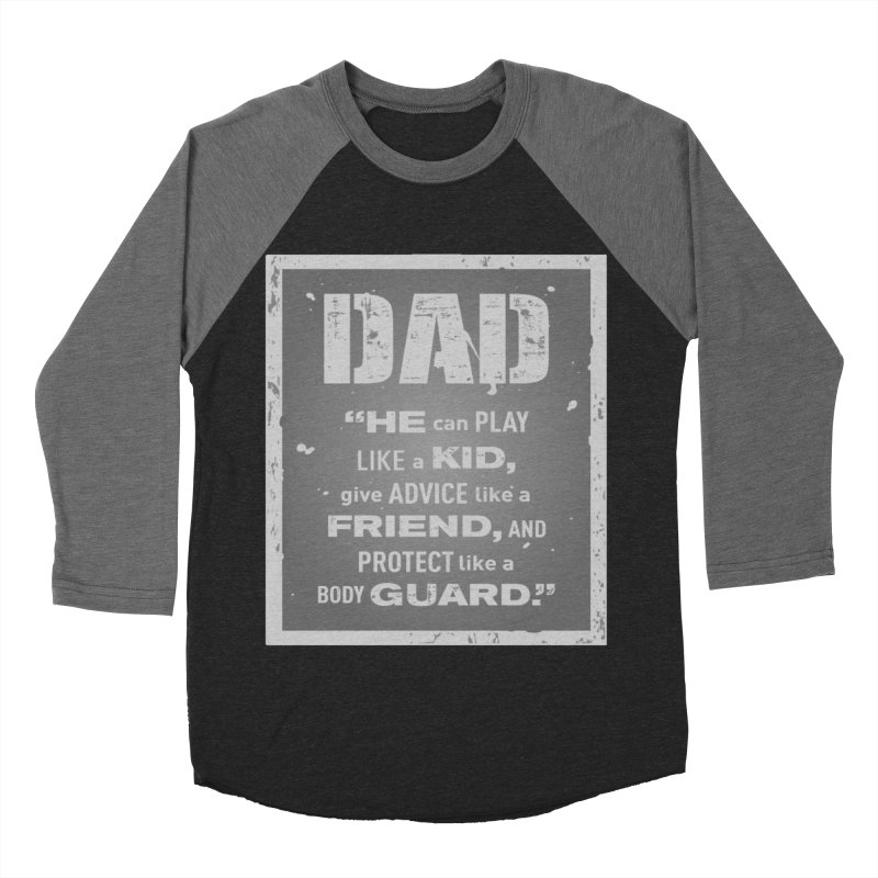 Father's Day Men's Baseball Triblend Longsleeve T-Shirt by moonjoggers's Artist Shop