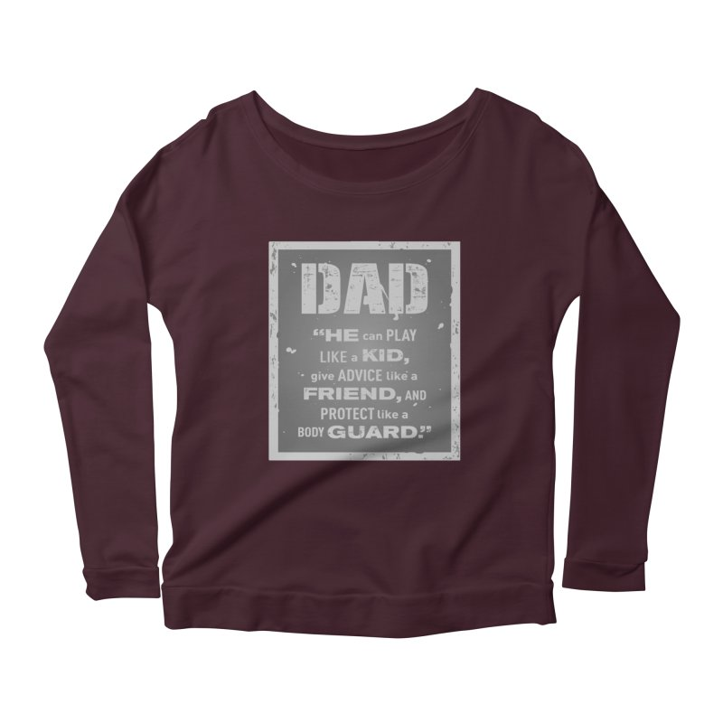 Father's Day Women's Scoop Neck Longsleeve T-Shirt by moonjoggers's Artist Shop