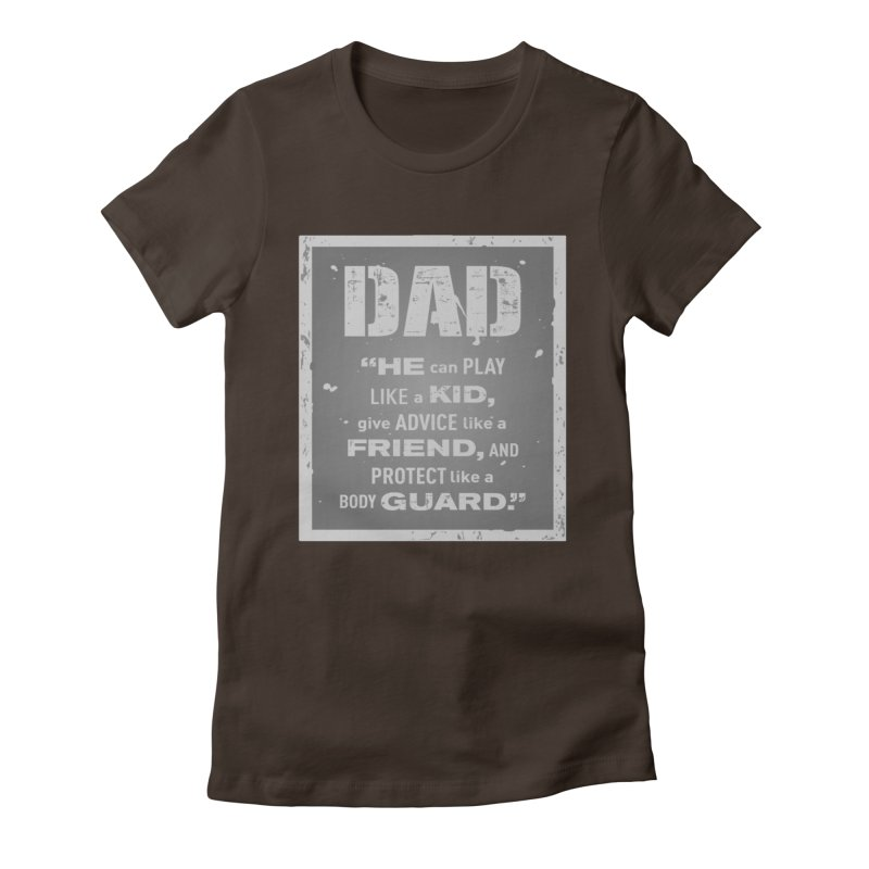 Father's Day Women's Fitted T-Shirt by moonjoggers's Artist Shop