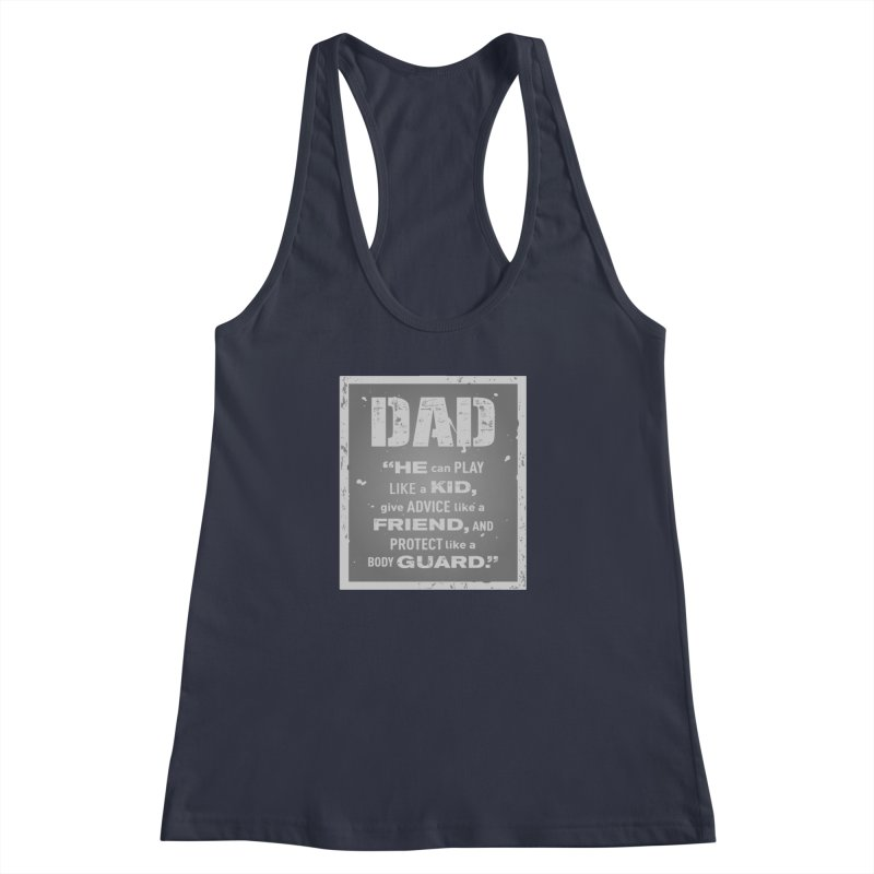 Father's Day Women's Racerback Tank by moonjoggers's Artist Shop