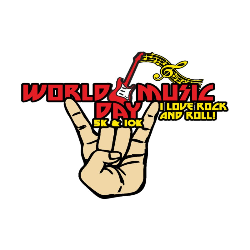 World Music Day 5K & 10K Men's T-Shirt by Moon Joggers's Artist Shop