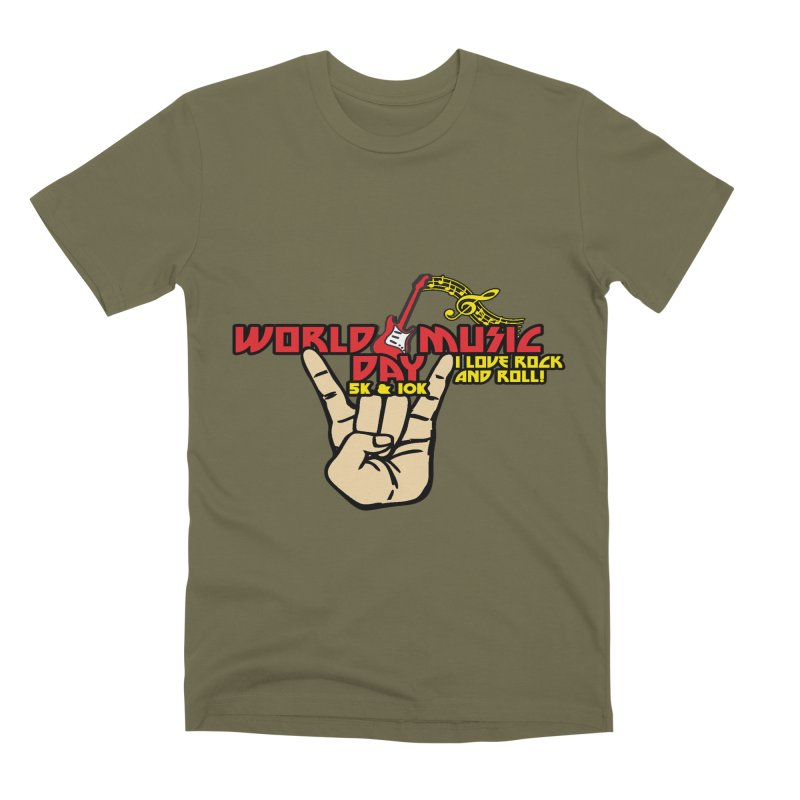 World Music Day 5K & 10K Men's Premium T-Shirt by moonjoggers's Artist Shop
