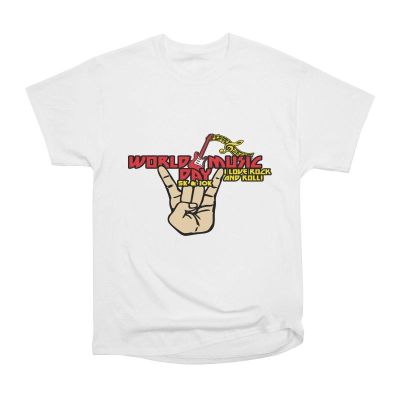 World Music Day 5K & 10K Women's Heavyweight Unisex T-Shirt by moonjoggers's Artist Shop