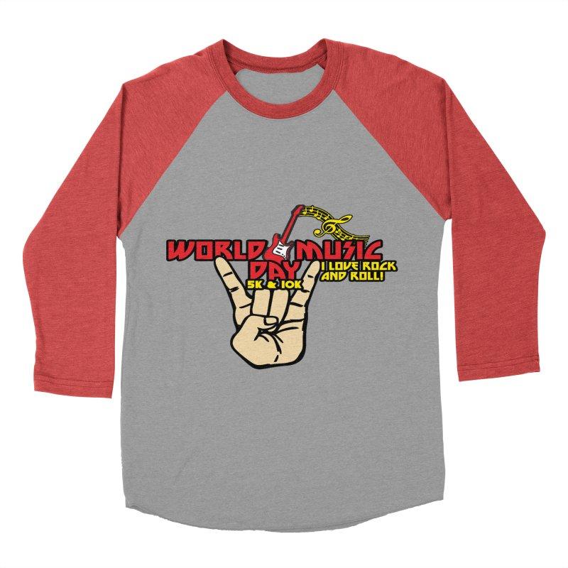 World Music Day 5K & 10K Women's Baseball Triblend Longsleeve T-Shirt by moonjoggers's Artist Shop