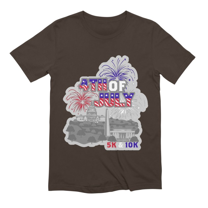 4th of July 5K & 10K Men's Extra Soft T-Shirt by moonjoggers's Artist Shop