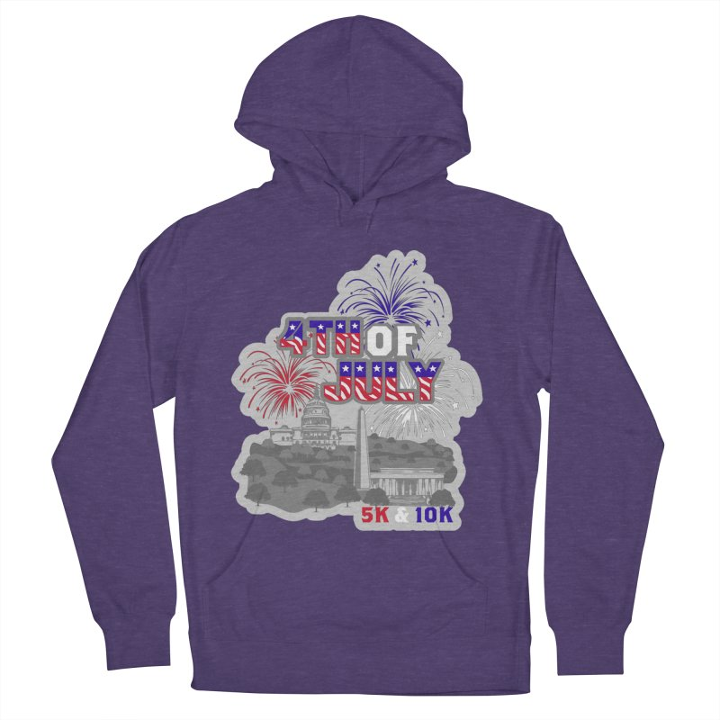 4th of July 5K & 10K Men's French Terry Pullover Hoody by moonjoggers's Artist Shop