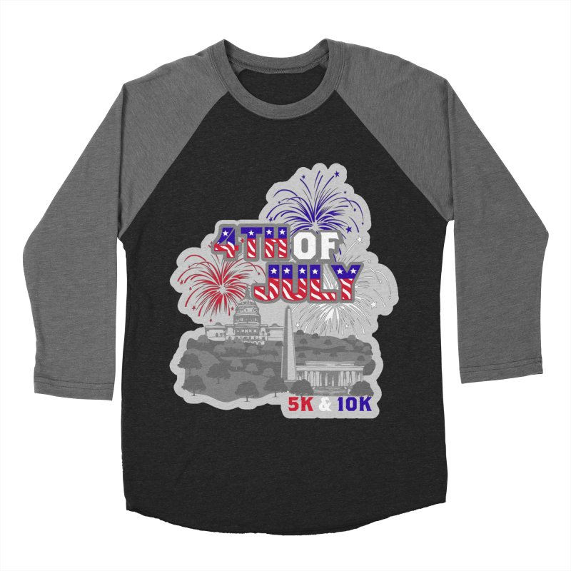4th of July 5K & 10K Women's Baseball Triblend Longsleeve T-Shirt by moonjoggers's Artist Shop