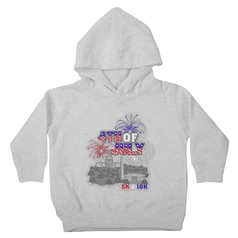 4th of July 5K & 10K Kids Toddler Pullover Hoody by moonjoggers's Artist Shop