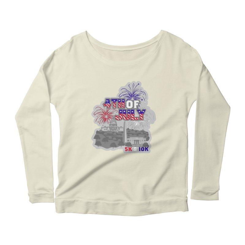 4th of July 5K & 10K Women's Scoop Neck Longsleeve T-Shirt by moonjoggers's Artist Shop