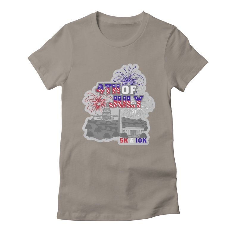 4th of July 5K & 10K Women's Fitted T-Shirt by moonjoggers's Artist Shop