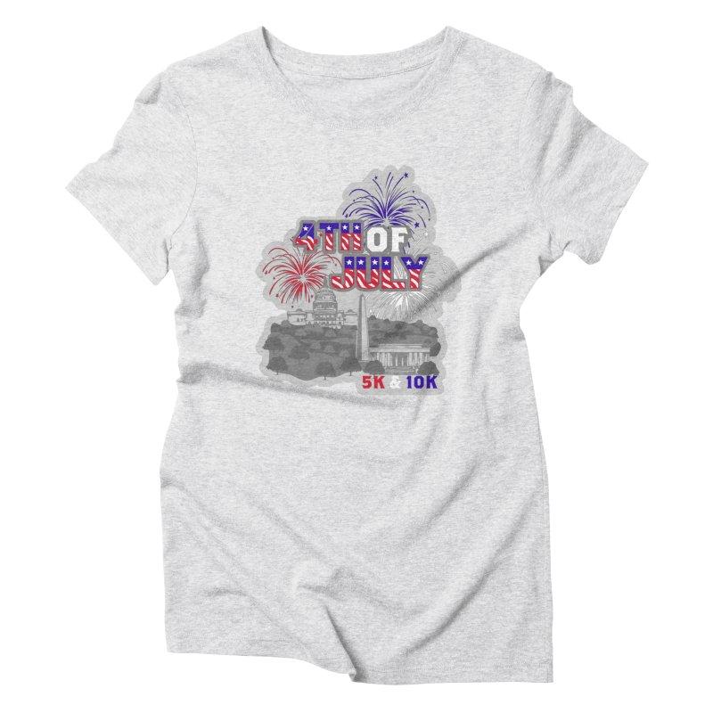 4th of July 5K & 10K Women's Triblend T-Shirt by moonjoggers's Artist Shop