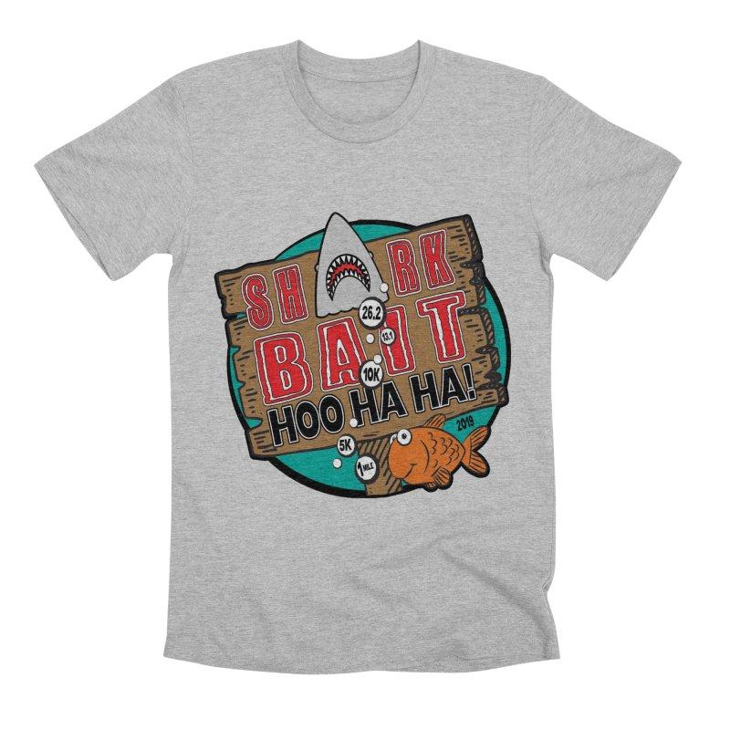 Shark Bait Hoo Ha Ha 1 Mile, 5K, 10K, 13.1, 26.2 Men's Premium T-Shirt by moonjoggers's Artist Shop