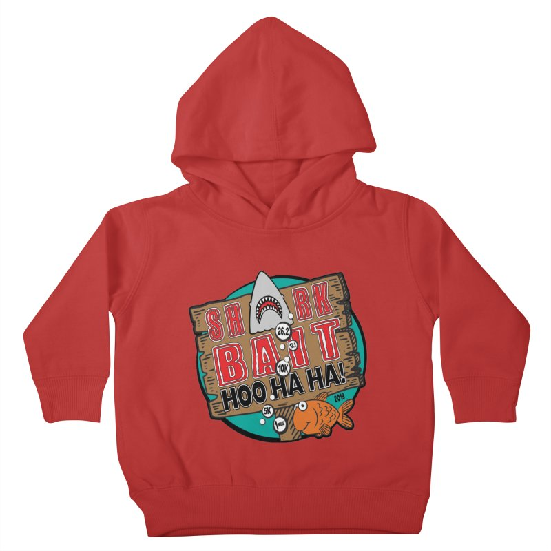 Shark Bait Hoo Ha Ha 1 Mile, 5K, 10K, 13.1, 26.2 Kids Toddler Pullover Hoody by moonjoggers's Artist Shop