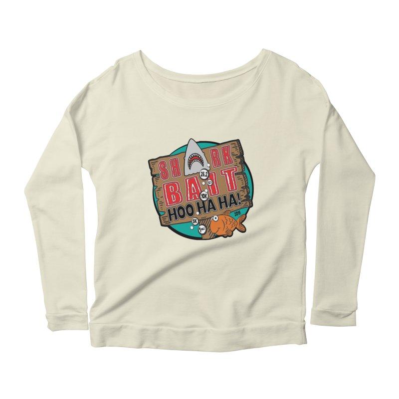Shark Bait Hoo Ha Ha 1 Mile, 5K, 10K, 13.1, 26.2 Women's Scoop Neck Longsleeve T-Shirt by moonjoggers's Artist Shop