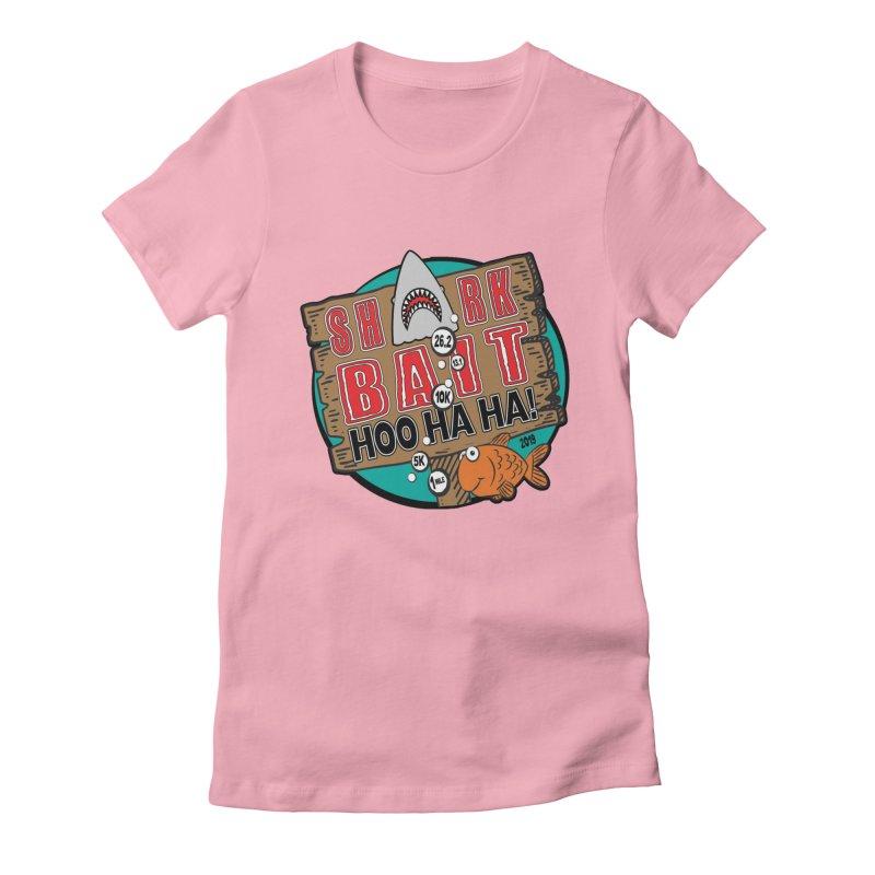 Shark Bait Hoo Ha Ha 1 Mile, 5K, 10K, 13.1, 26.2 Women's Fitted T-Shirt by moonjoggers's Artist Shop