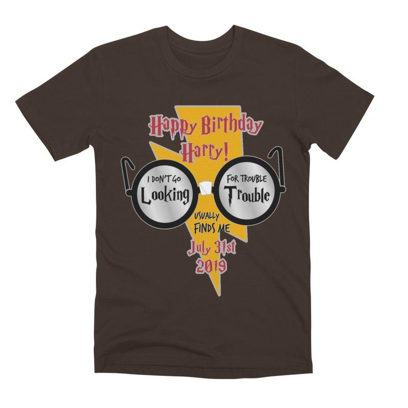 Happy Birthday Harry Men's Premium T-Shirt by moonjoggers's Artist Shop
