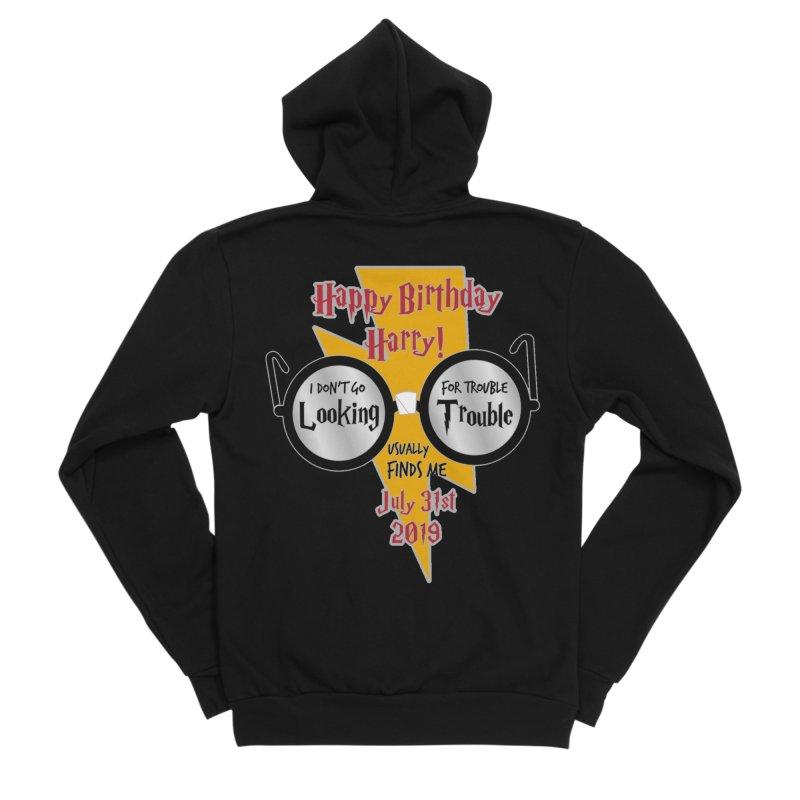 Happy Birthday Harry Men's Sponge Fleece Zip-Up Hoody by moonjoggers's Artist Shop