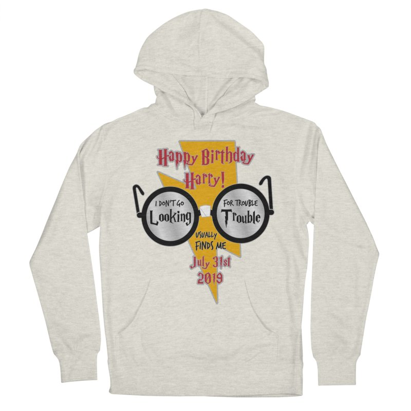 Happy Birthday Harry Men's French Terry Pullover Hoody by moonjoggers's Artist Shop