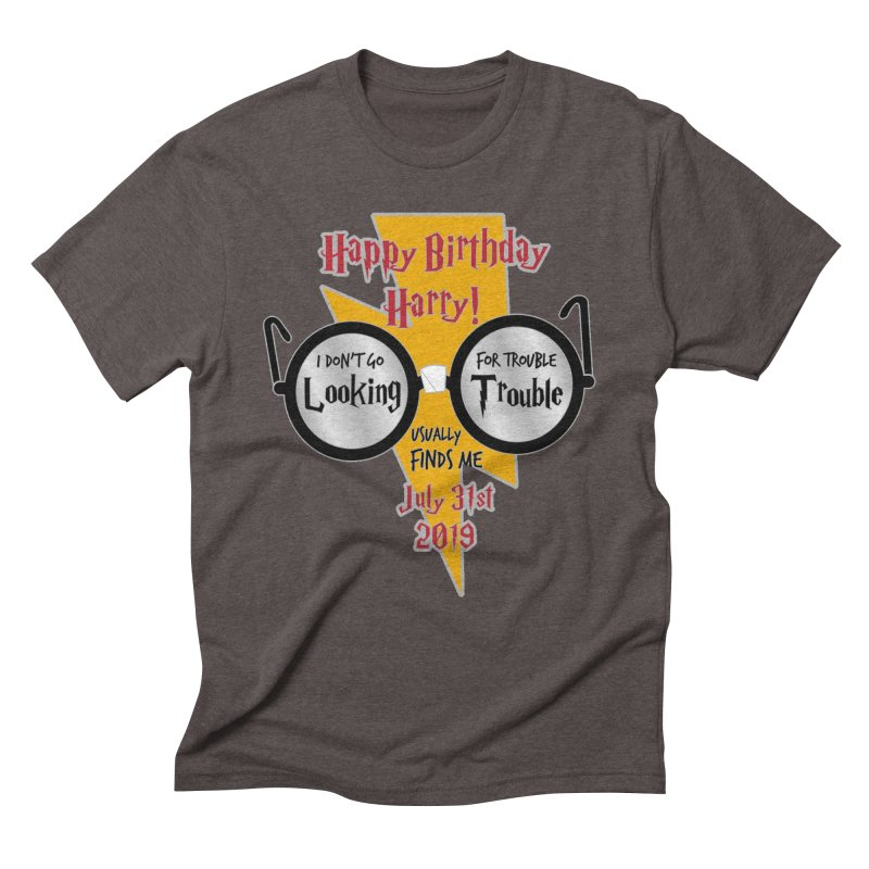 Happy Birthday Harry Men's Triblend T-Shirt by moonjoggers's Artist Shop