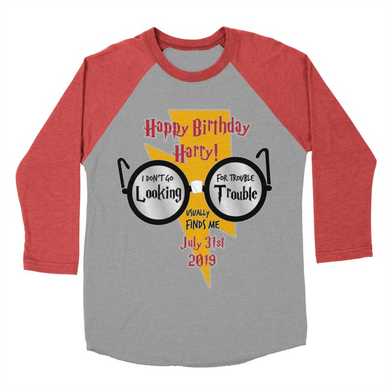 Happy Birthday Harry Women's Baseball Triblend Longsleeve T-Shirt by moonjoggers's Artist Shop