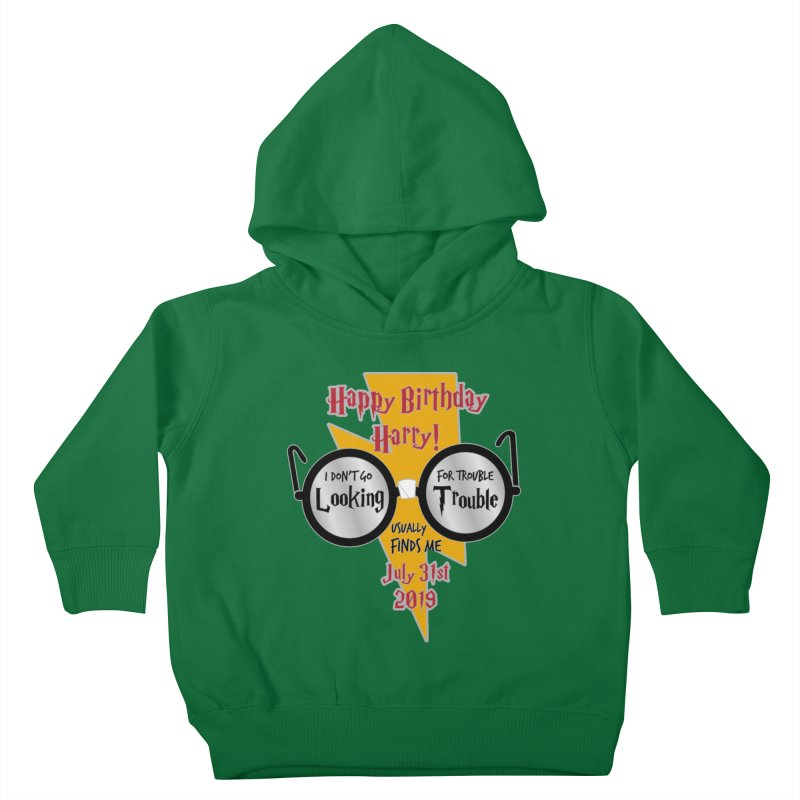 Happy Birthday Harry Kids Toddler Pullover Hoody by moonjoggers's Artist Shop