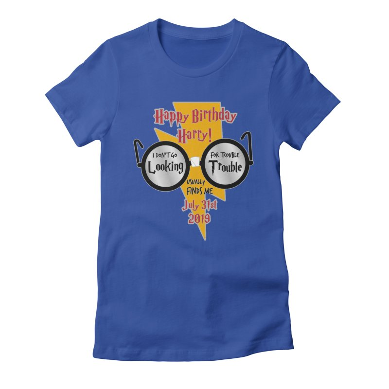 Happy Birthday Harry Women's Fitted T-Shirt by moonjoggers's Artist Shop