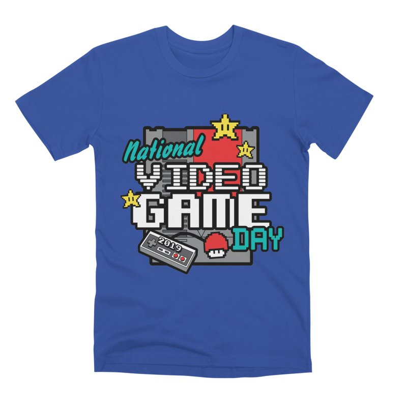 National Video Game Day Men's Premium T-Shirt by moonjoggers's Artist Shop