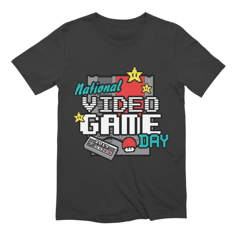 National Video Game Day Men's Extra Soft T-Shirt by moonjoggers's Artist Shop