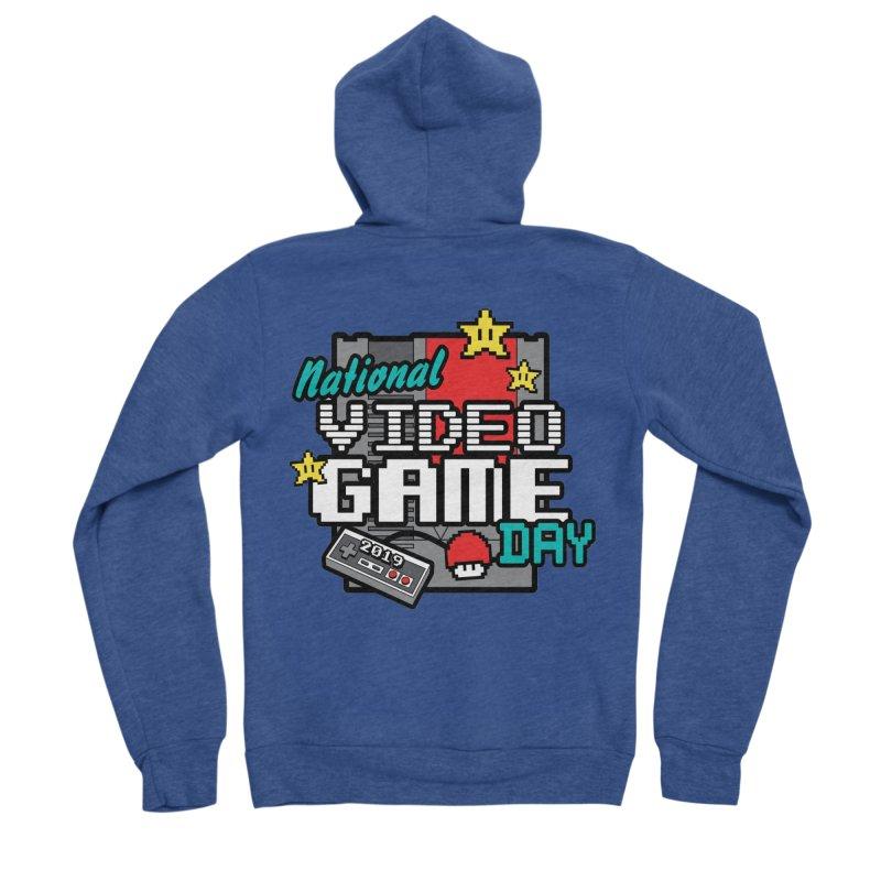 National Video Game Day Men's Sponge Fleece Zip-Up Hoody by moonjoggers's Artist Shop