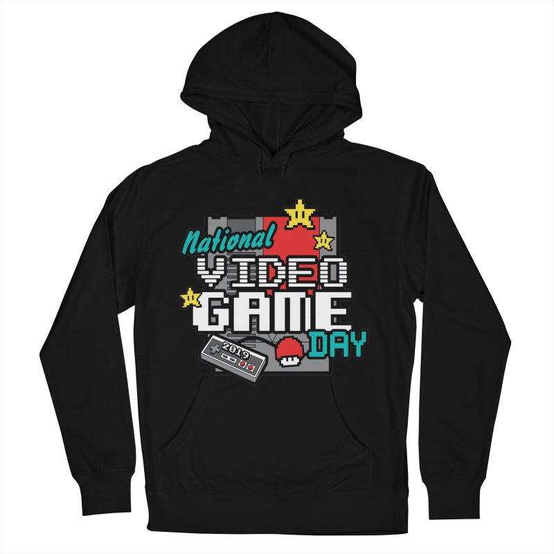 National Video Game Day Men's French Terry Pullover Hoody by moonjoggers's Artist Shop
