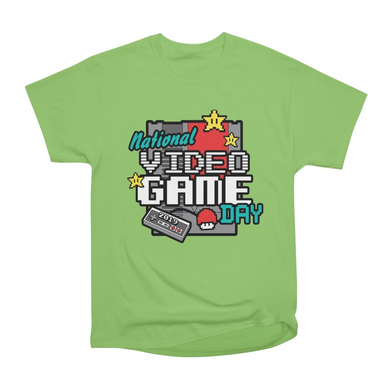 National Video Game Day Women's Heavyweight Unisex T-Shirt by moonjoggers's Artist Shop