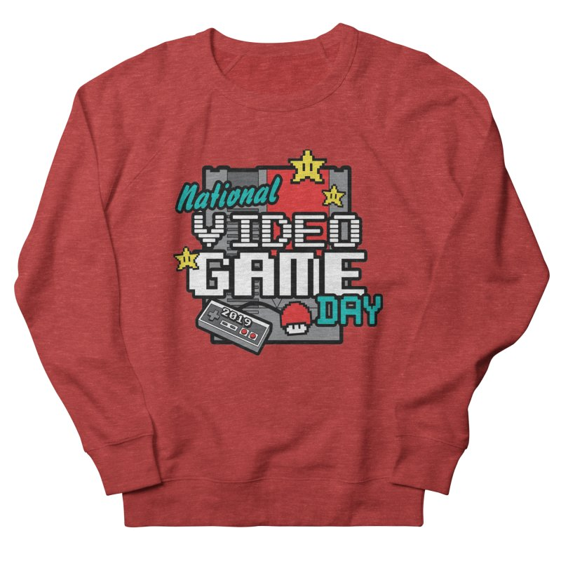 National Video Game Day Men's French Terry Sweatshirt by moonjoggers's Artist Shop