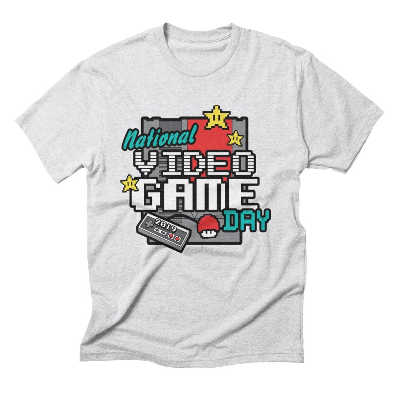 National Video Game Day Men's Triblend T-Shirt by moonjoggers's Artist Shop