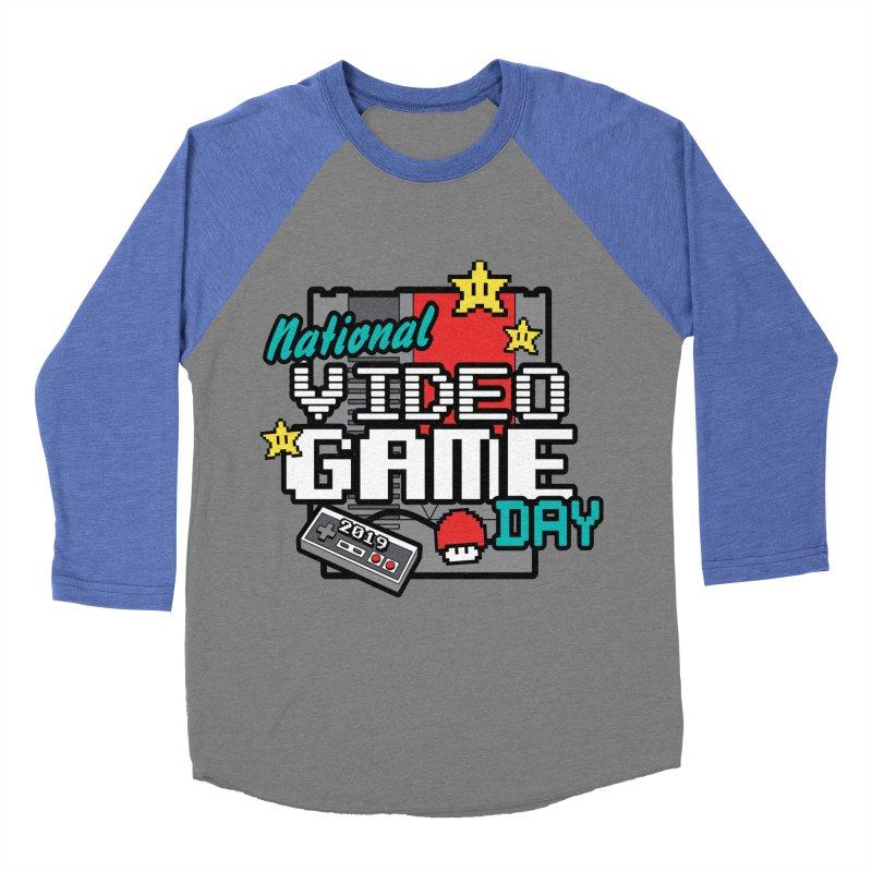 National Video Game Day Women's Baseball Triblend Longsleeve T-Shirt by moonjoggers's Artist Shop