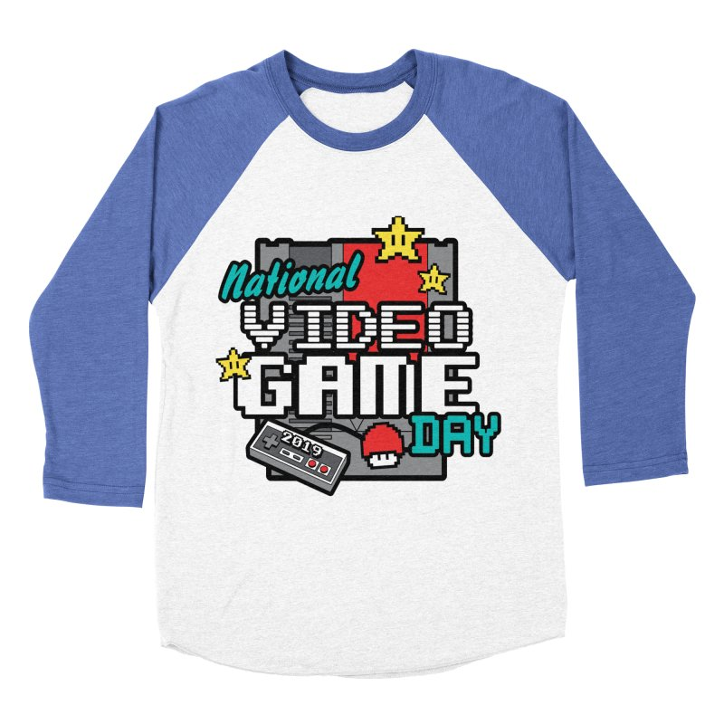 National Video Game Day Men's Baseball Triblend Longsleeve T-Shirt by moonjoggers's Artist Shop