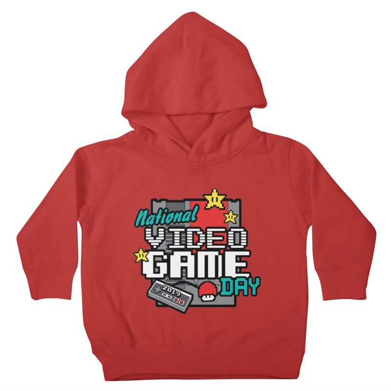 National Video Game Day Kids Toddler Pullover Hoody by moonjoggers's Artist Shop