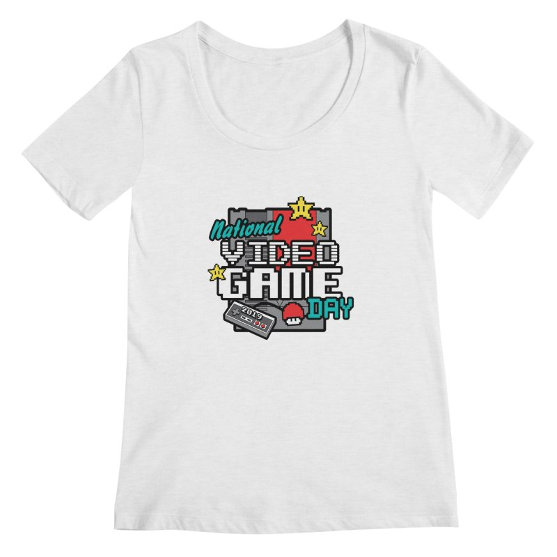 National Video Game Day Women's Regular Scoop Neck by moonjoggers's Artist Shop
