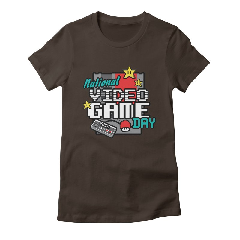 National Video Game Day Women's Fitted T-Shirt by moonjoggers's Artist Shop