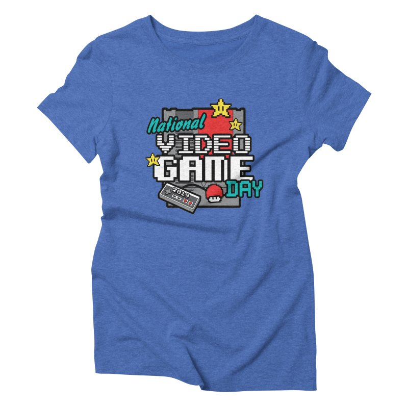 National Video Game Day Women's Triblend T-Shirt by moonjoggers's Artist Shop