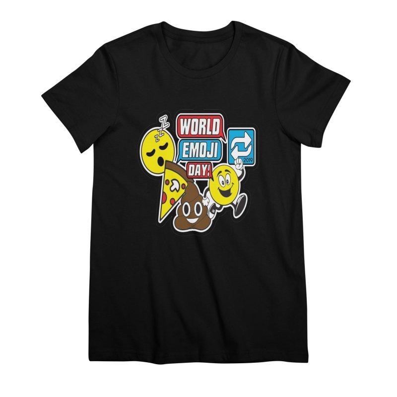 World Emoji Day Women's Premium T-Shirt by moonjoggers's Artist Shop