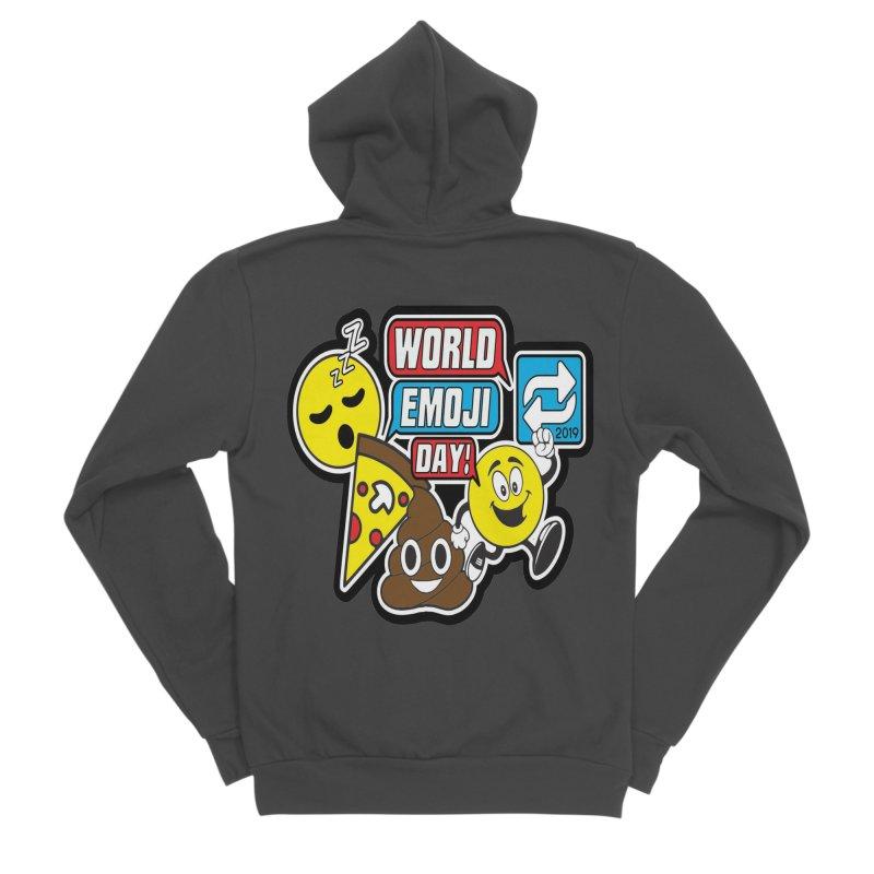World Emoji Day Men's Sponge Fleece Zip-Up Hoody by moonjoggers's Artist Shop