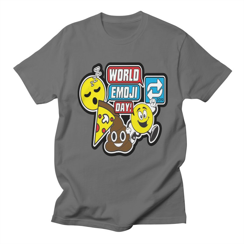 World Emoji Day in Men's Regular T-Shirt Asphalt by Moon Joggers's Artist Shop