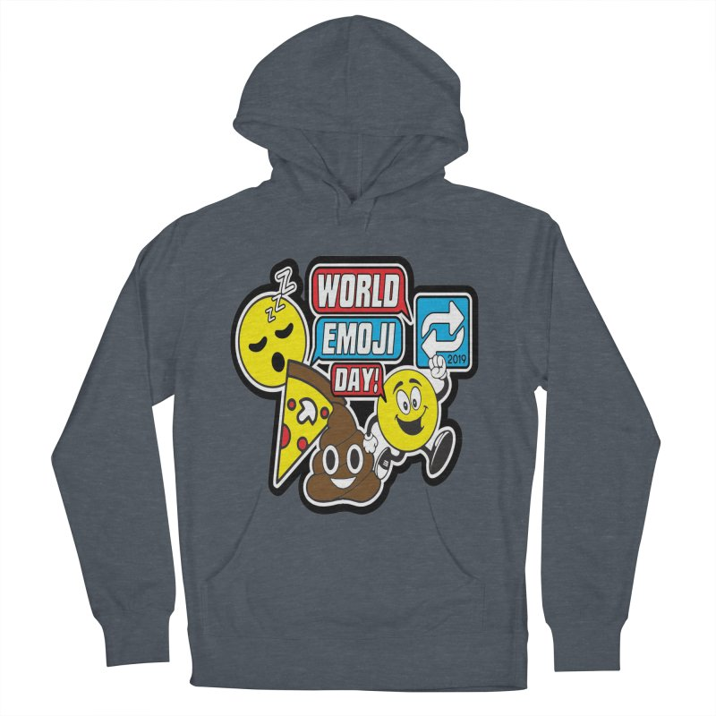 World Emoji Day Men's French Terry Pullover Hoody by moonjoggers's Artist Shop