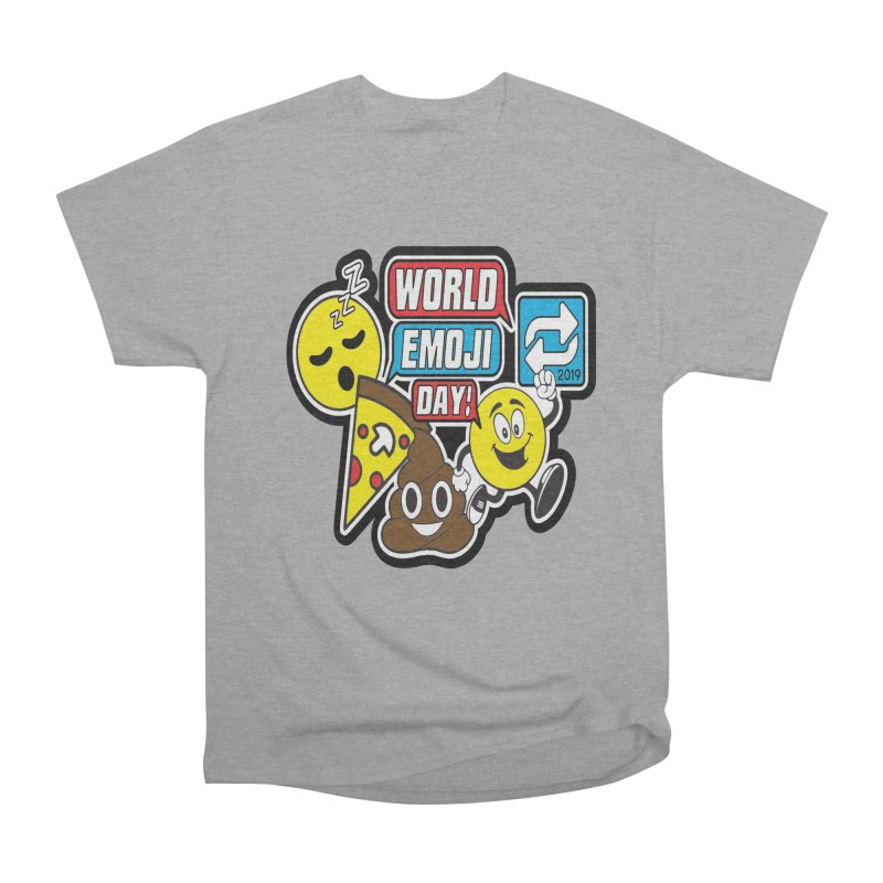 World Emoji Day Men's Heavyweight T-Shirt by moonjoggers's Artist Shop