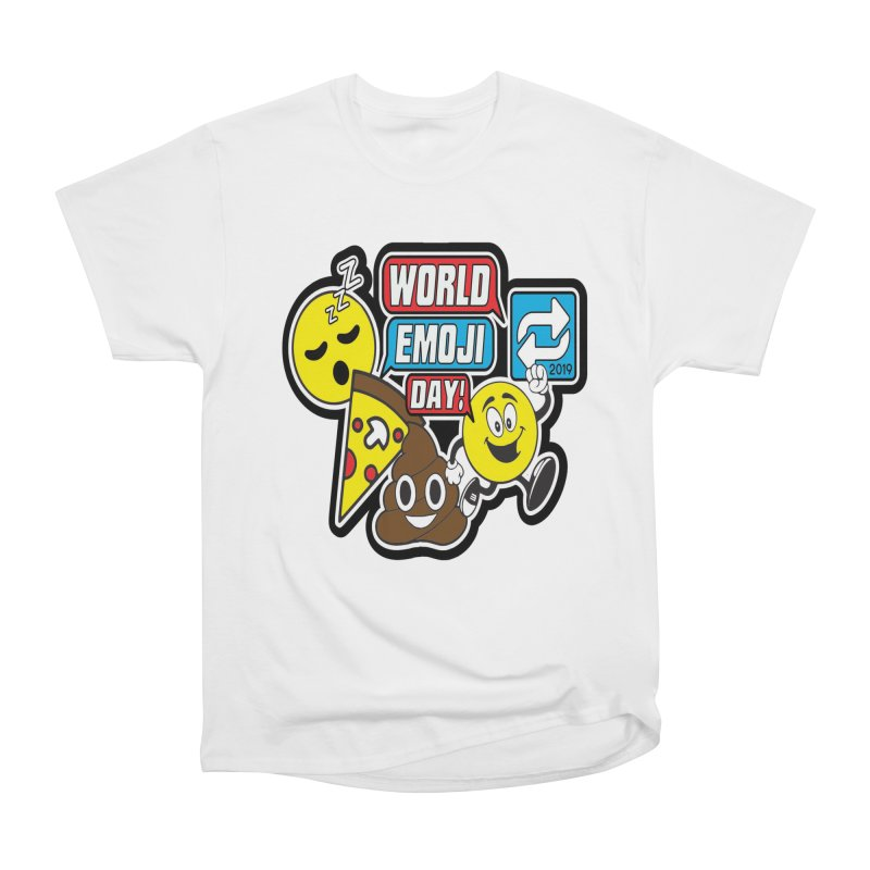 World Emoji Day Women's Heavyweight Unisex T-Shirt by moonjoggers's Artist Shop